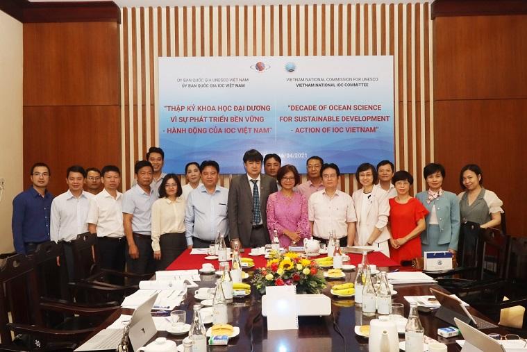 """Hội thảo """"Thập kỷ khoa học đại dương vì sự phát triển bền vững - Hành động của IOC Việt Nam"""